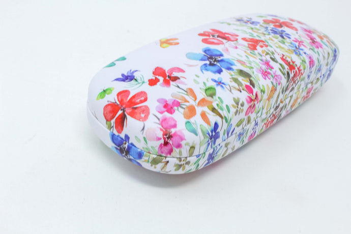 Butterfly meadow glasses case