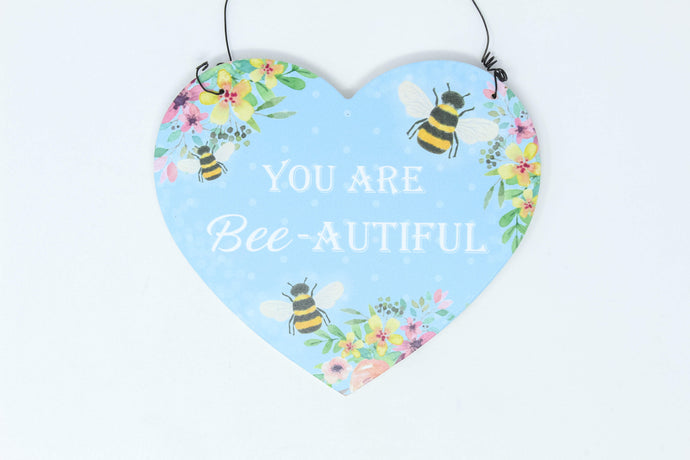 'You are bee-autiful' wall hanging decoration