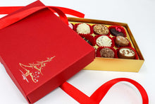 Load image into Gallery viewer, 12 pack Christmas chocolate gift box