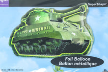 Load image into Gallery viewer, Happy birthday tank supershape foil balloon