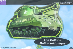 Happy birthday tank supershape foil balloon