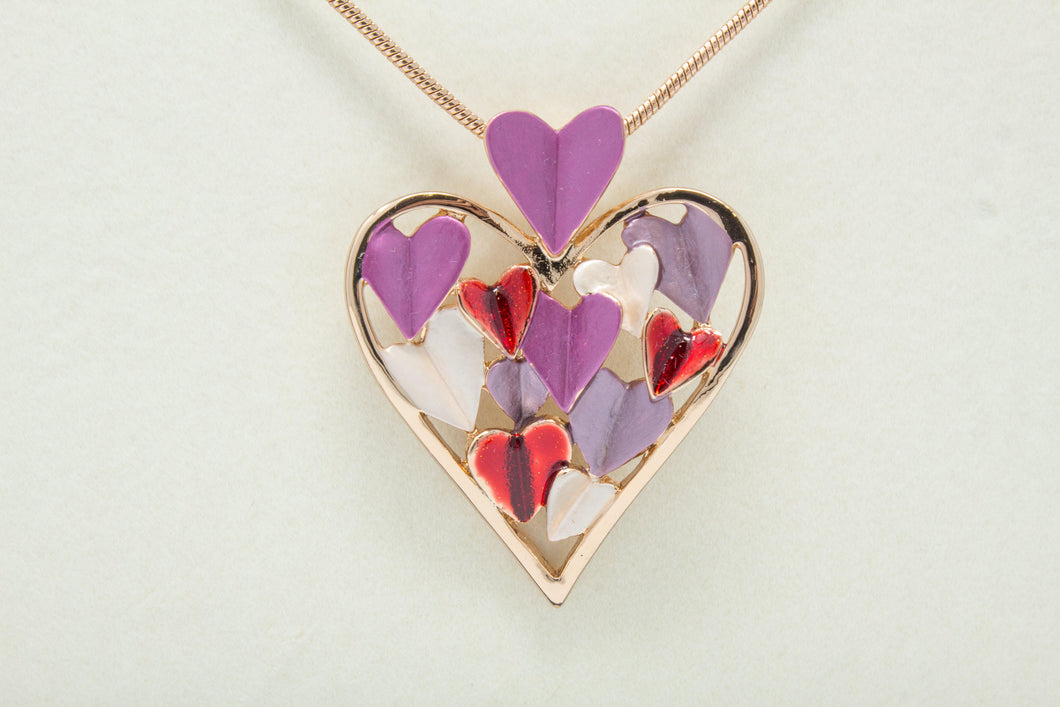 Rose gold heart of hearts necklace