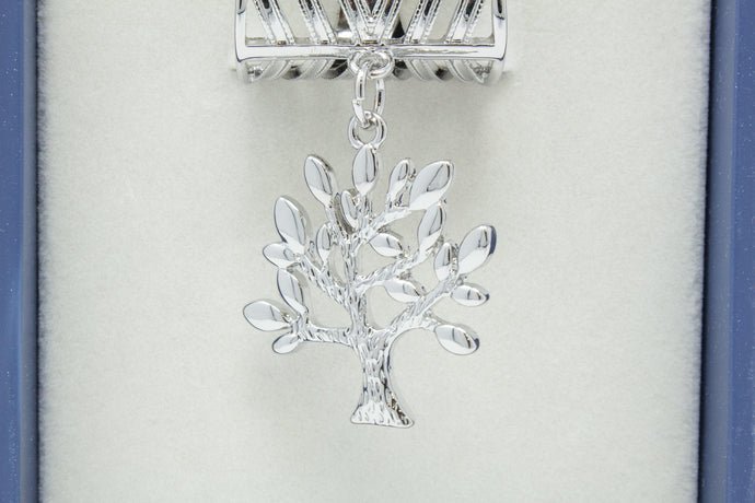 Silver Tree Scarf Ring