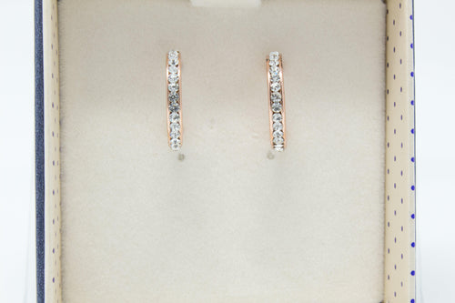 Small Diamanté Ring Earrings