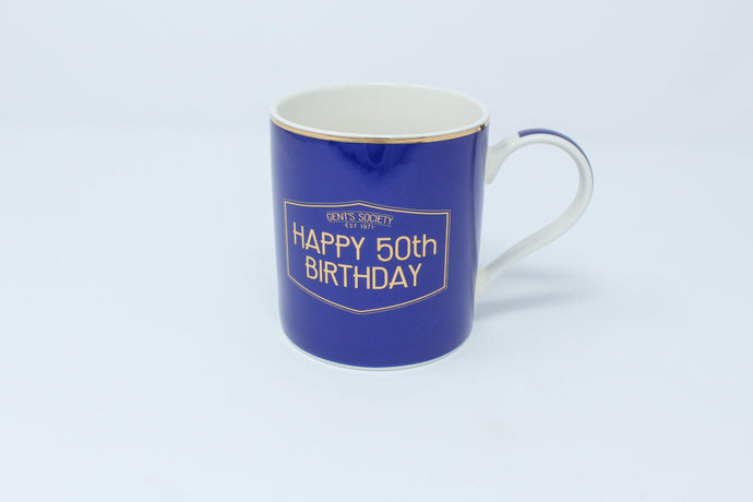 Happy 50th birthday mug