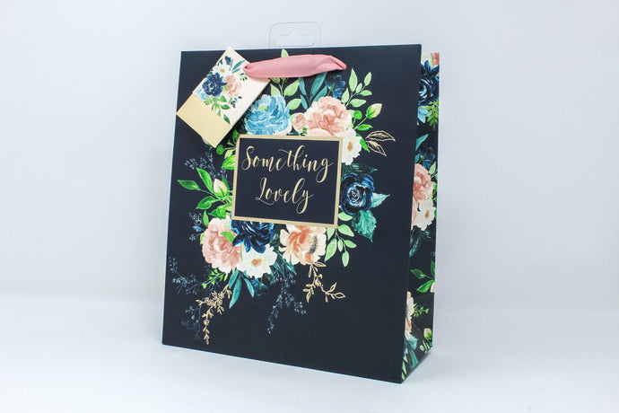 'Something Lovely' floral gift bag