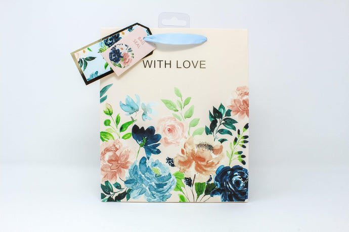 'With Love' floral gift bag