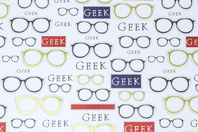 'Geek' glasses wrapping paper