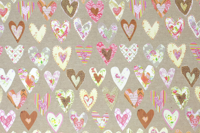 Heart wrapping paper