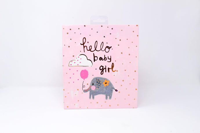 Hello baby girl gift bag