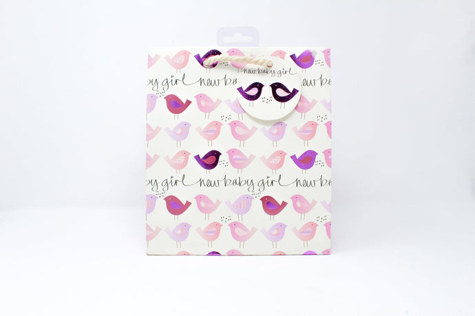 New baby girl gift bag