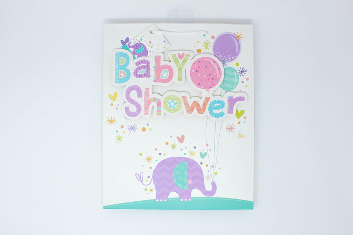 Baby shower elephant gift bag
