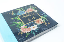 Load image into Gallery viewer, Midnight blue floral address book