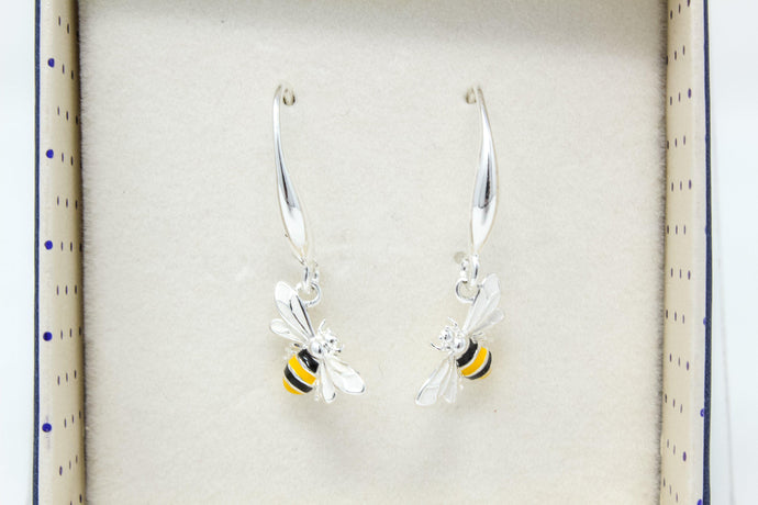 Eq hand-painted sparkle bee earring