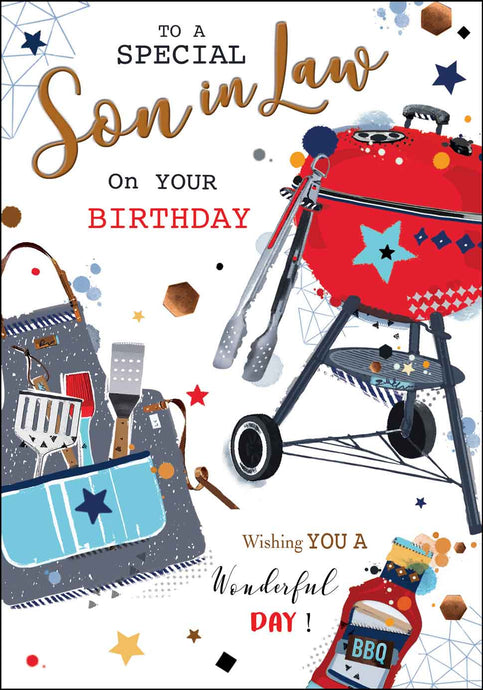 Son-in-Law Birthday BQQ Card