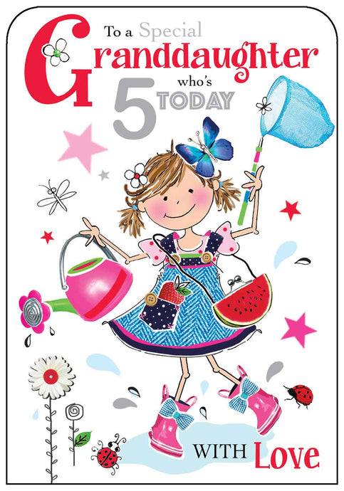 Granddaughters 5th Birthday Card