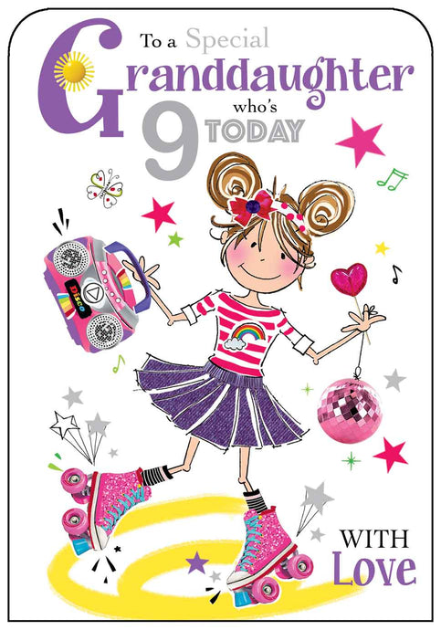 Granddaughters 9th Birthday Card