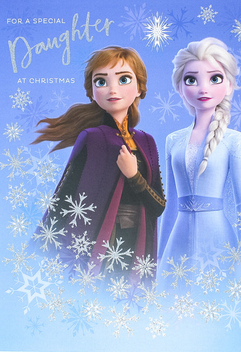 For a special daughter Frozen Christmas card