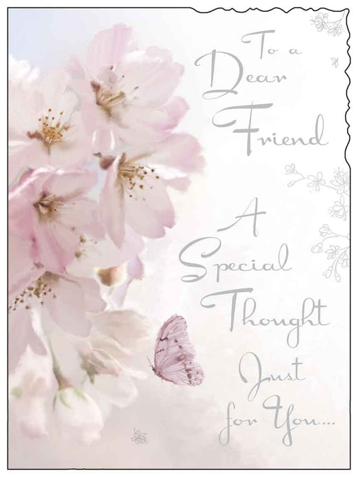 To a dear friend a special thought card