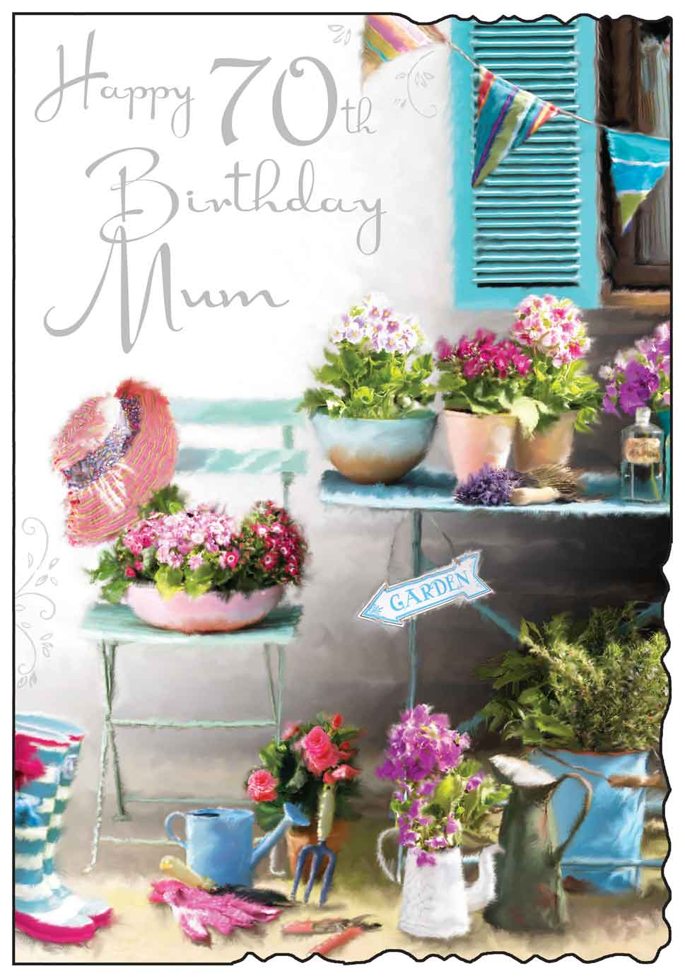 Happy 70th birthday mum card