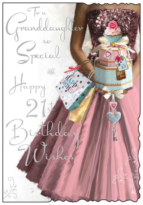 Granddaughter so special 21st birthday card