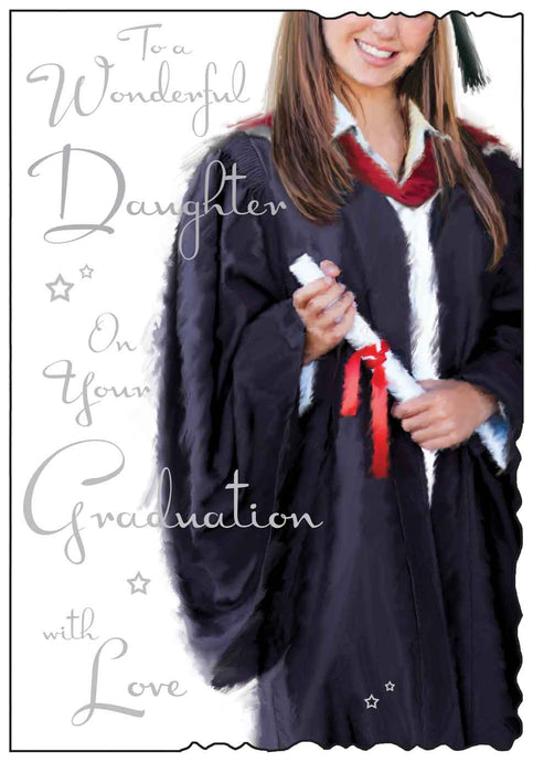 Wonderful daughter on your graduation card