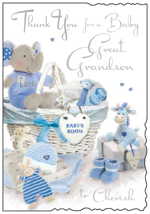 Thank you for a baby great grandson card