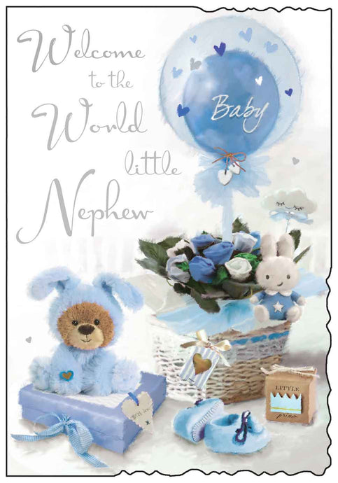 Welcome to the world nephew card
