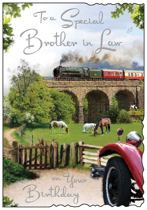 Special brother in law steam train birthday card