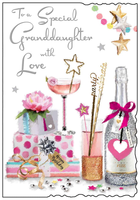 Special granddaughter birthday card