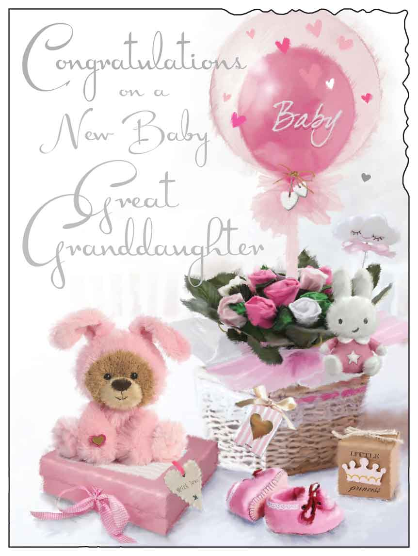 Congratulations on your new baby great granddaughter card