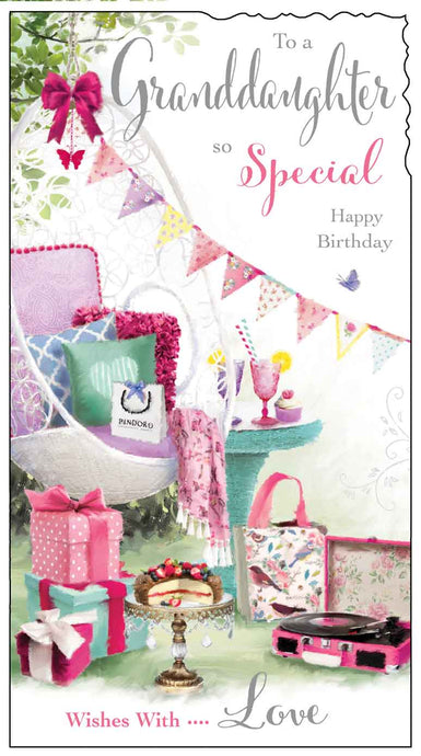 Granddaughter birthday garden party card