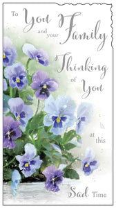 Thinking of you & your family card