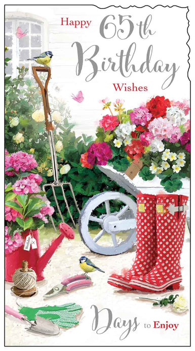 65th birthday garden card