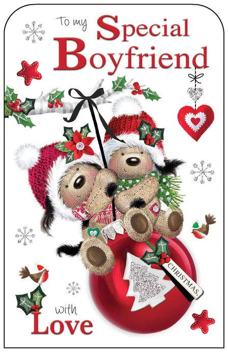 Special boyfriend with love Christmas card