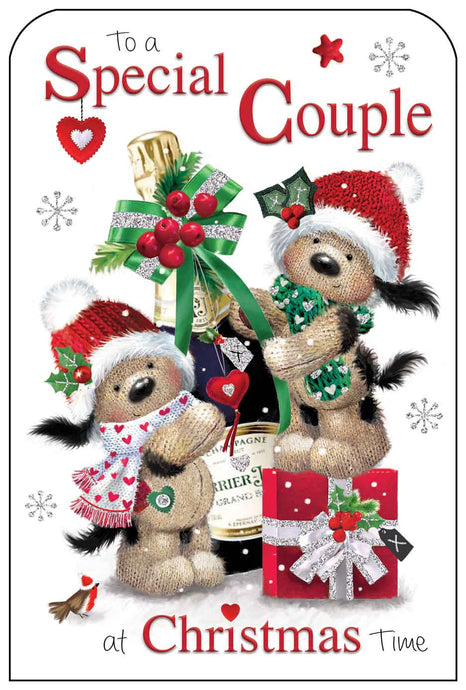Special couple at Christmas card