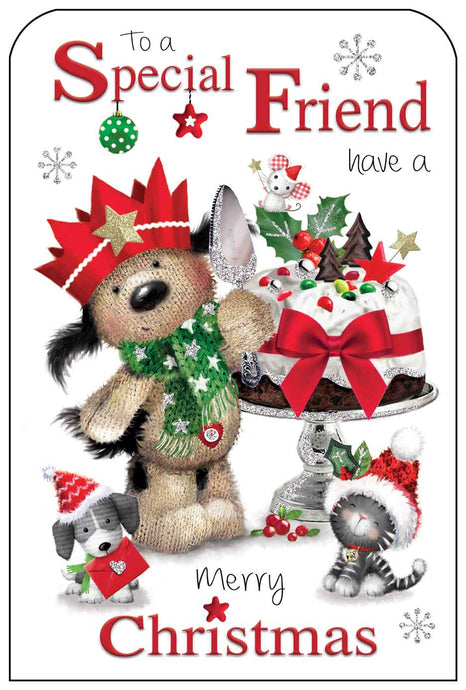 To a special friend have a merry Christmas card
