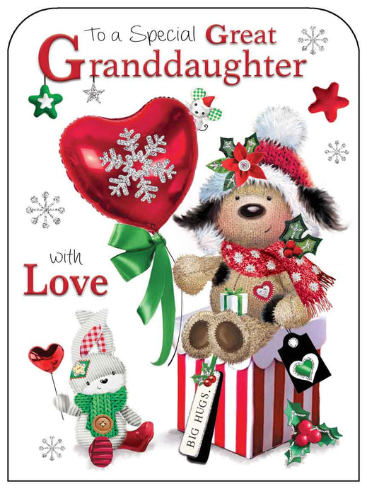 Special great granddaughter Christmas card