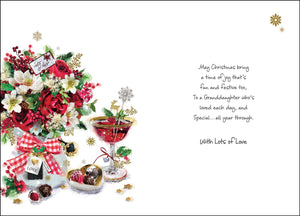 To a granddaughter so special Christmas card