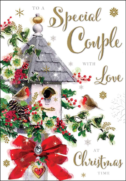 To a special couple with love Christmas card