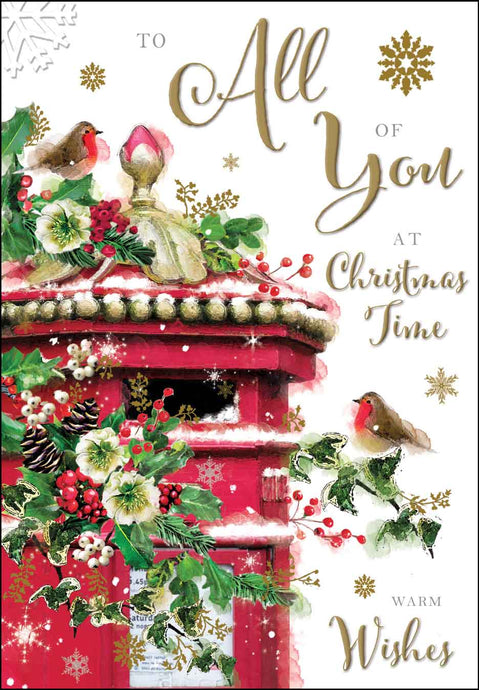 To all of you at Christmas time card