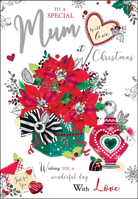 Special mum with love Christmas card