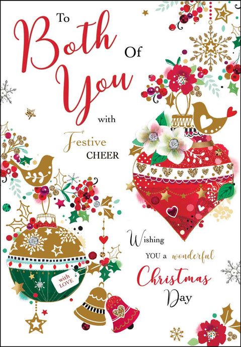 To both of you with festive cheer Christmas card