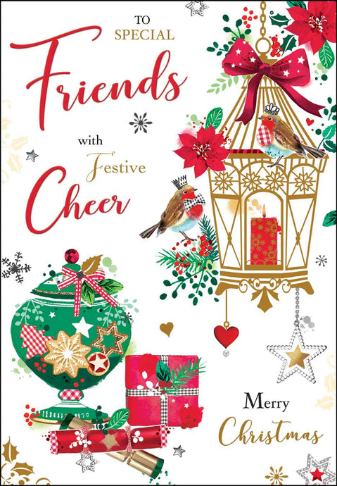 Special friends with festive cheer Christmas card