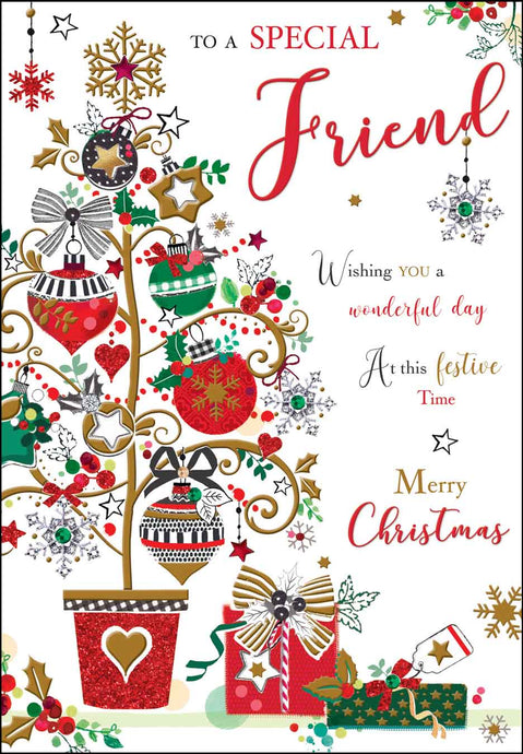 Special friend merry Christmas card