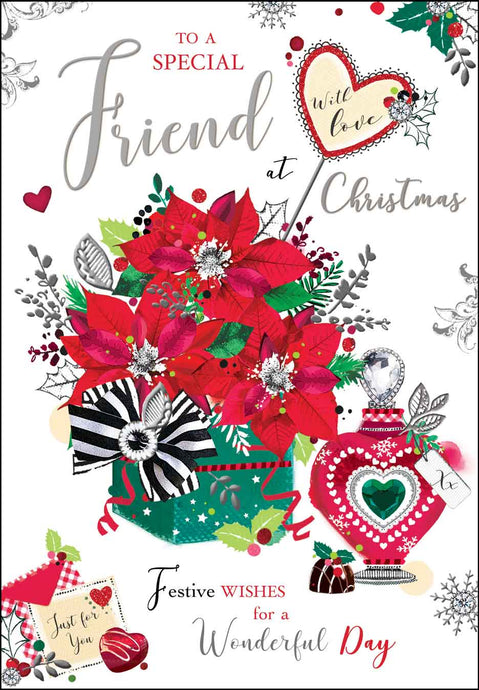 Special friend with love Christmas card