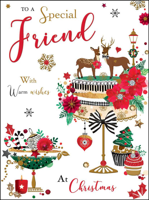 Special friend at Christmas card