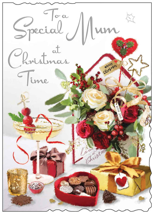 To a special mum at Christmas time card