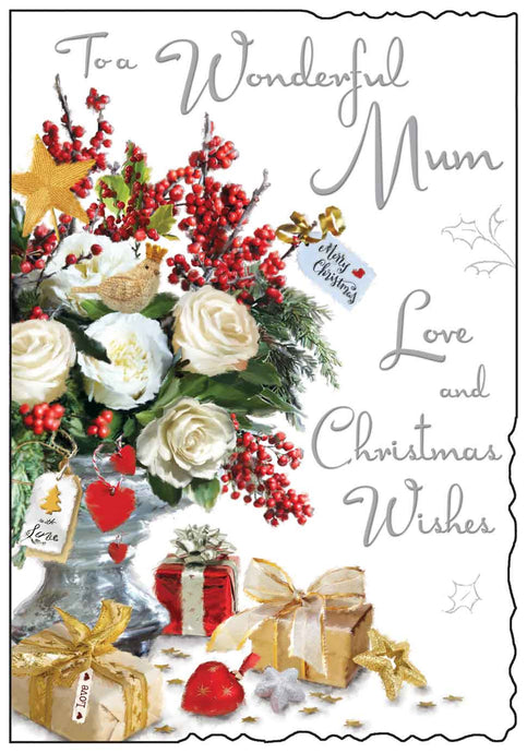 To a wonderful mum love & Christmas wishes card