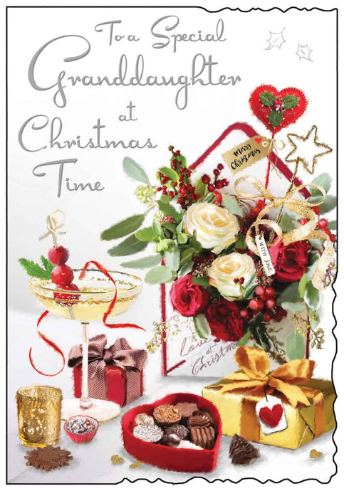Special granddaughter at Christmas time card
